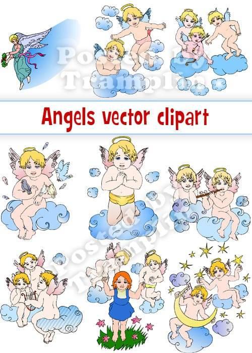 Ангелы - Векторный клипарт