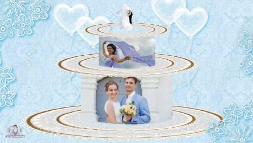 Проект для ProShow Producer - Свадьба в голубом цвете