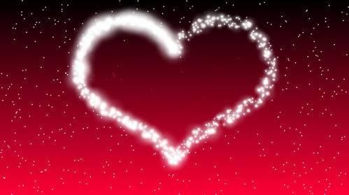 Футаж - Вспышки рисуют сердце