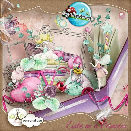 Детский скрап-набор - Принцесса на горошине