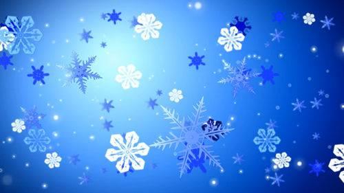 Футаж - Хоровод снежинок