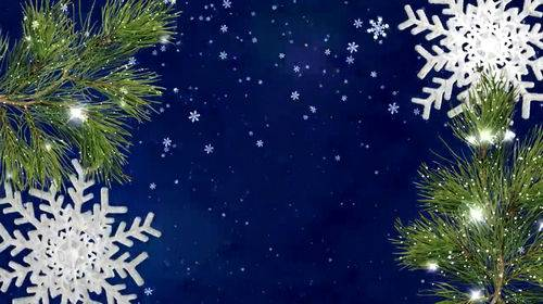 Новогодний футаж - Снегопад