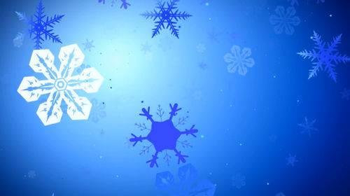 Новогодний футаж - Снежинки летящие в экран