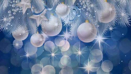 Новогодний футаж - Фон с елочными шарами