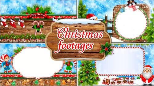Новогодние фоновые футажи - Волшебный праздник Рождества