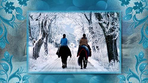 Проект для ProShow Producer -Падает, падает снег