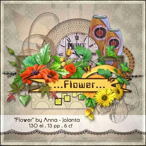 Цветочный скрап-набор - Цветок