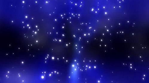 Футаж - Падающие неоновые снежинки
