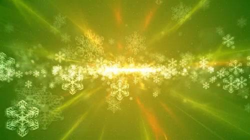 Футаж - Летящие снежинки в лучах света