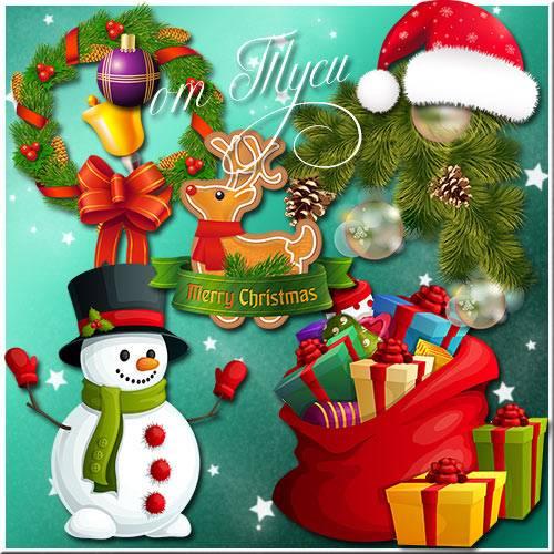 Снеговики ни минуты не скучают, с Новым годом поздравляют - Клипарт