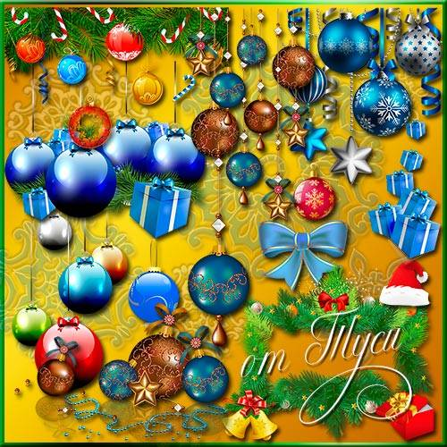 Новогодних желаний фон – поздравлений миллион - Клипарт