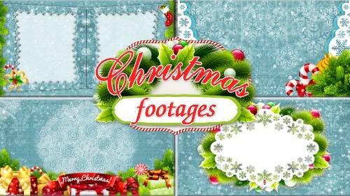 Новогодние футажи - Чудесный праздник Рождества