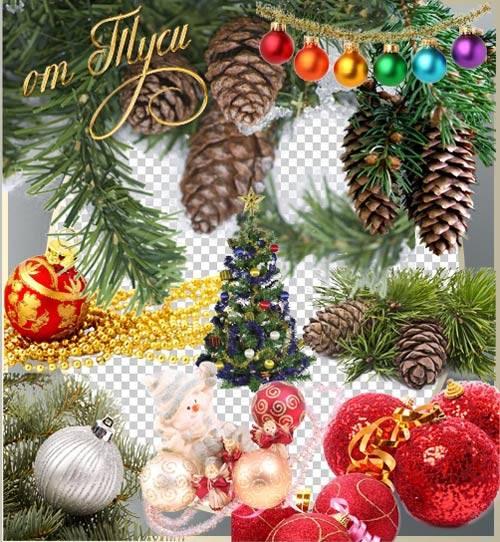 Клипарт - Интерьерные украшения для новогоднего настроения