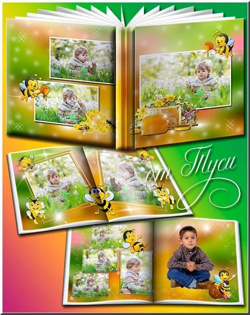 Детский фотоальбом с пчёлкой Майей