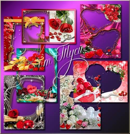 Set  - For lovers / Набор рамок для влюблённых