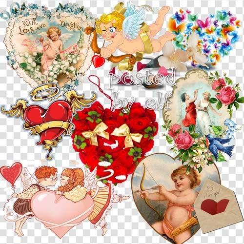 Клипарт в png - День влюблённых