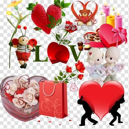 С Днем влюбленных поздравляю - клипарт без фона