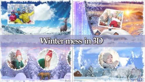 Проект для ProShow Producer - Зимняя неразбериха 3D