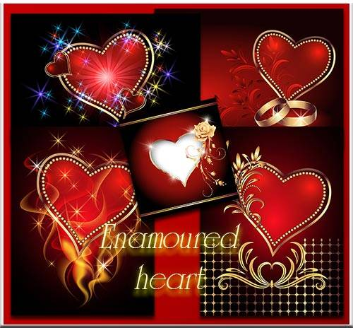 Vector Stock - Enamoured heart