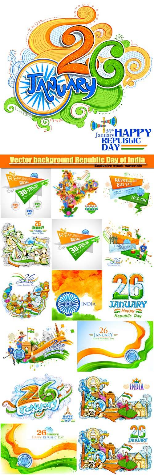 Vector background Republic Day of India