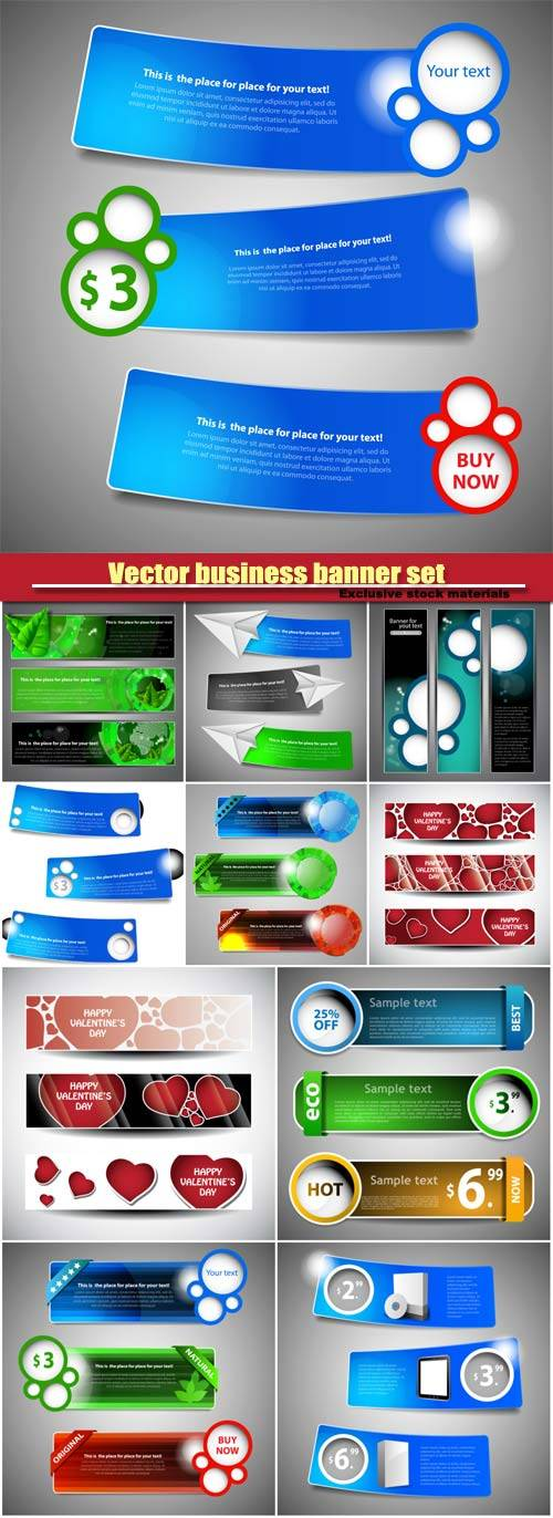 Vector business banner set