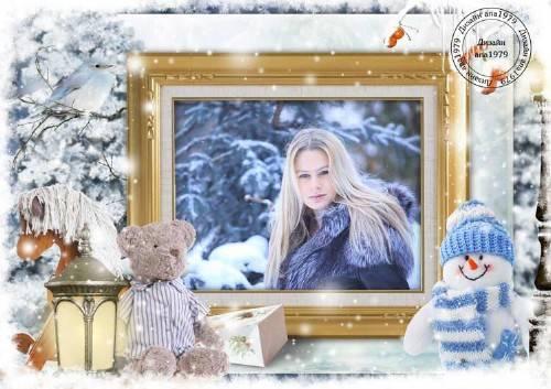Рамка для фотошопа – Зимняя сказка