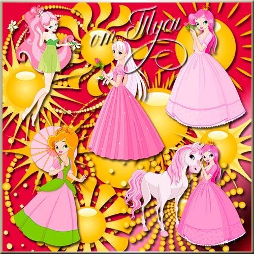 Клипарт для детей - Принцесса и Солнце / Clip Art for children - Princess a ...