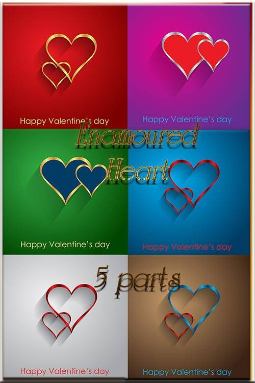 Vector Stock - Enamoured heart - 5