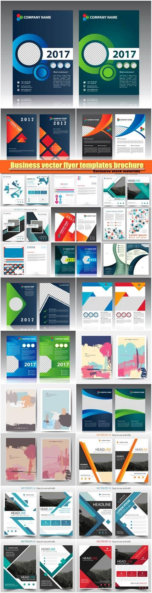 Business vector flyer templates brochure