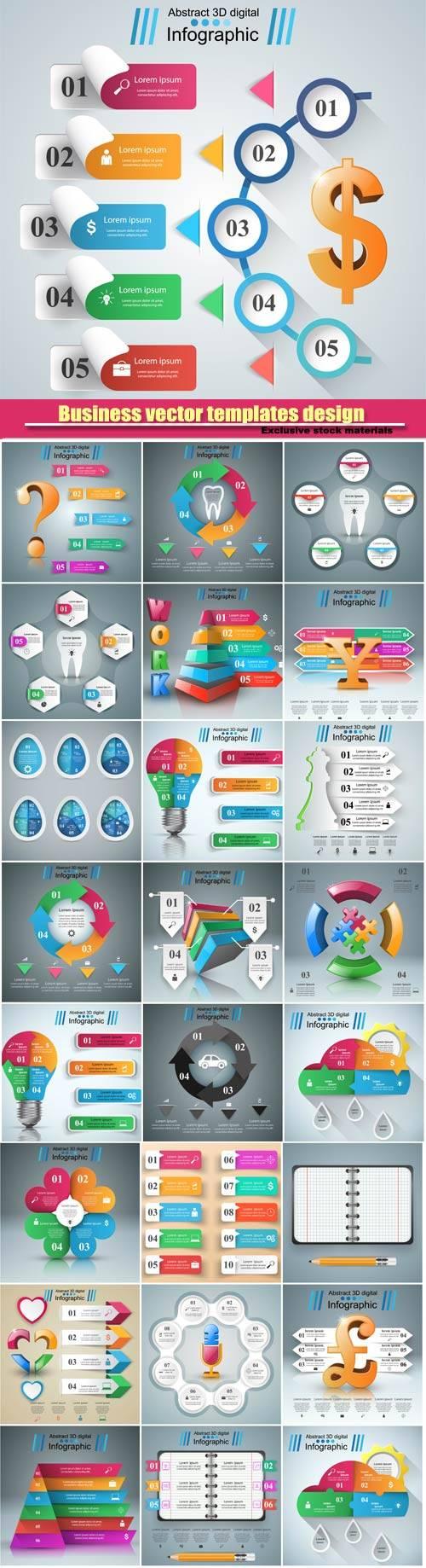 3D business infographic vector design