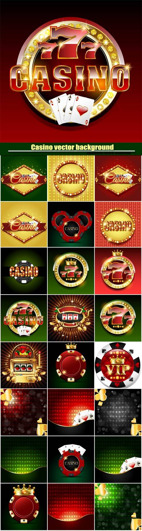 Casino vector background, slot machine on shiny background