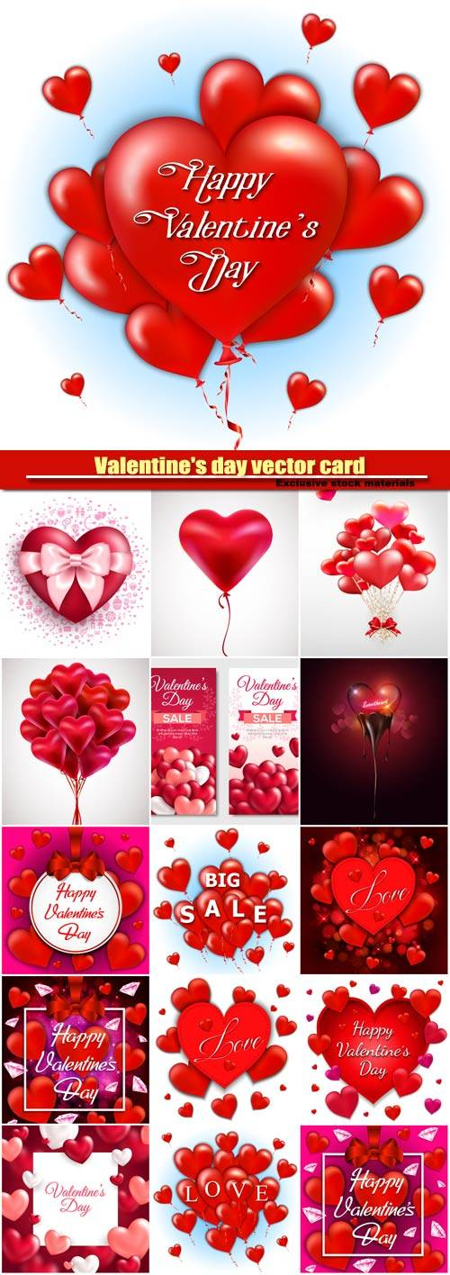 Valentine's day vector card