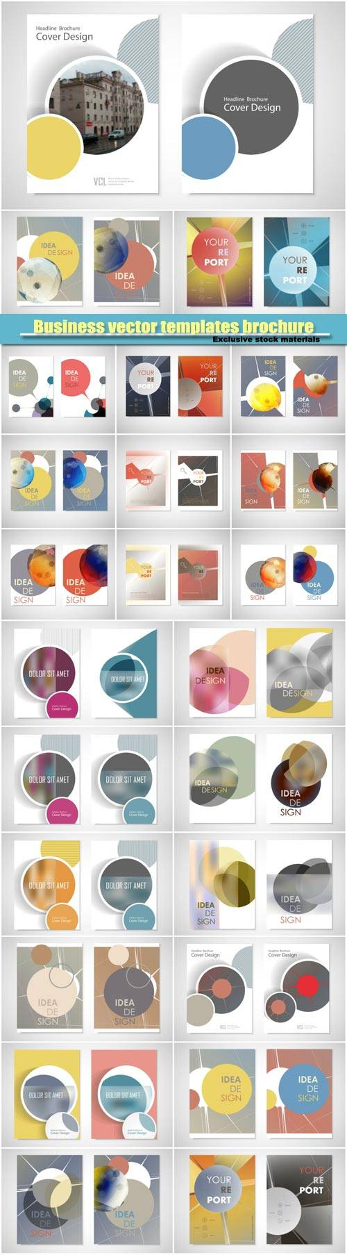 Business vector flyer templates brochure, creative figure icon