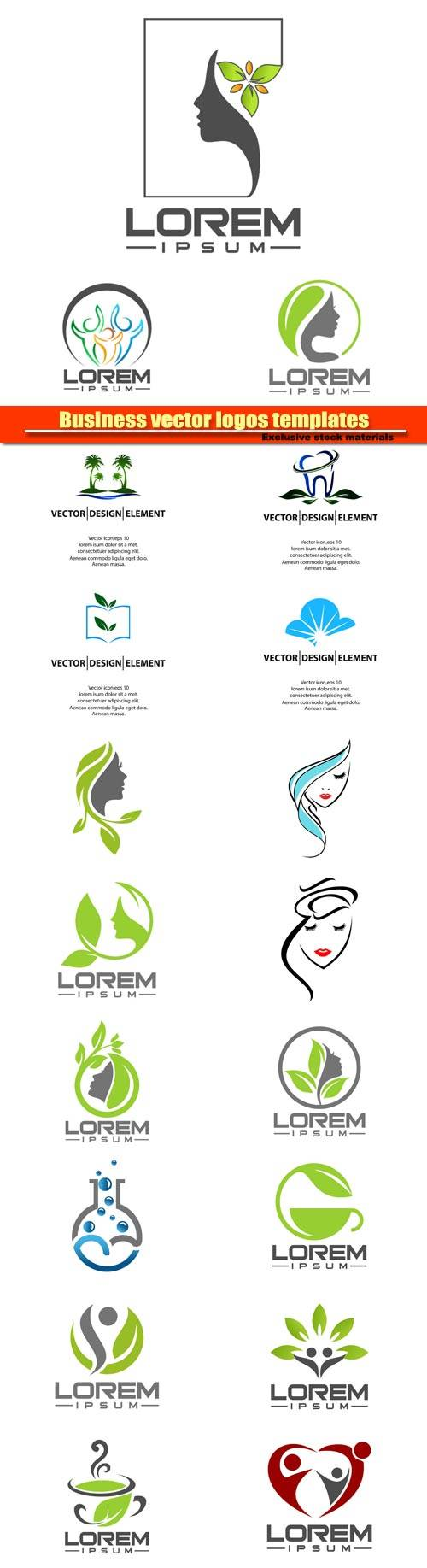 Business vector logos templates №10