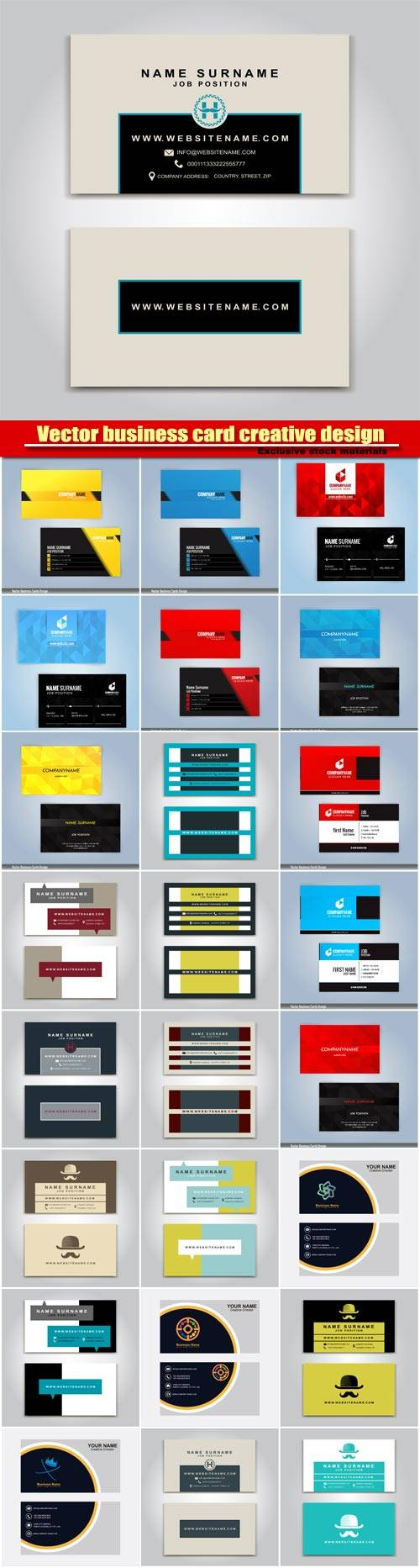 Vector business card creative design