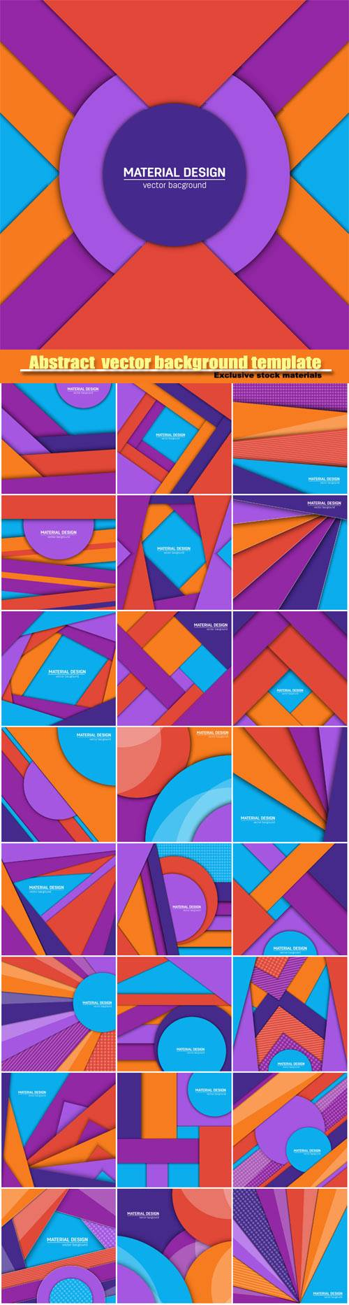 Abstract creative layout vector background template #4