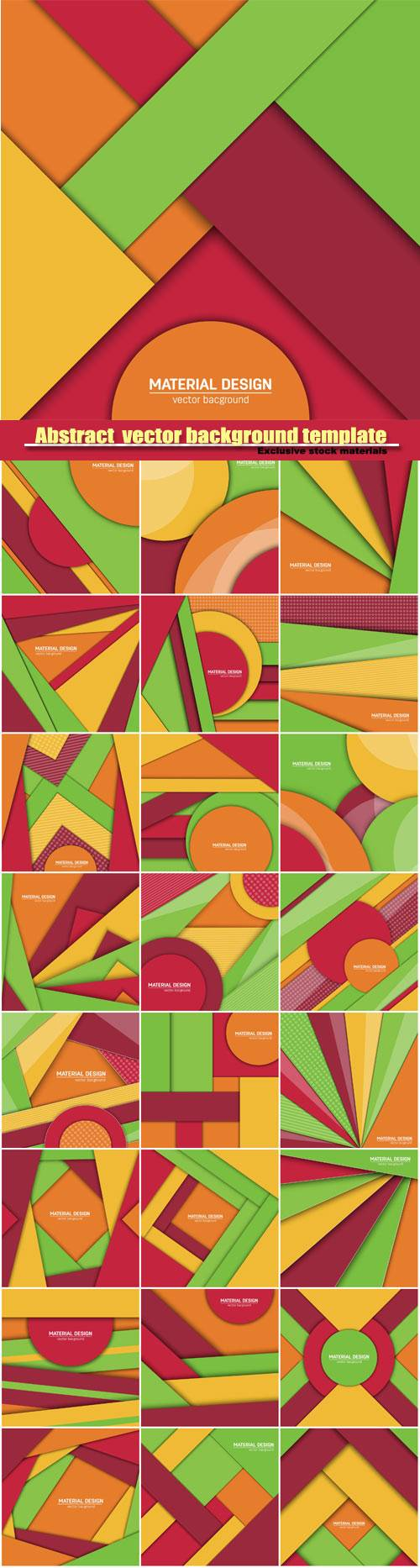 Abstract creative layout vector background template #2