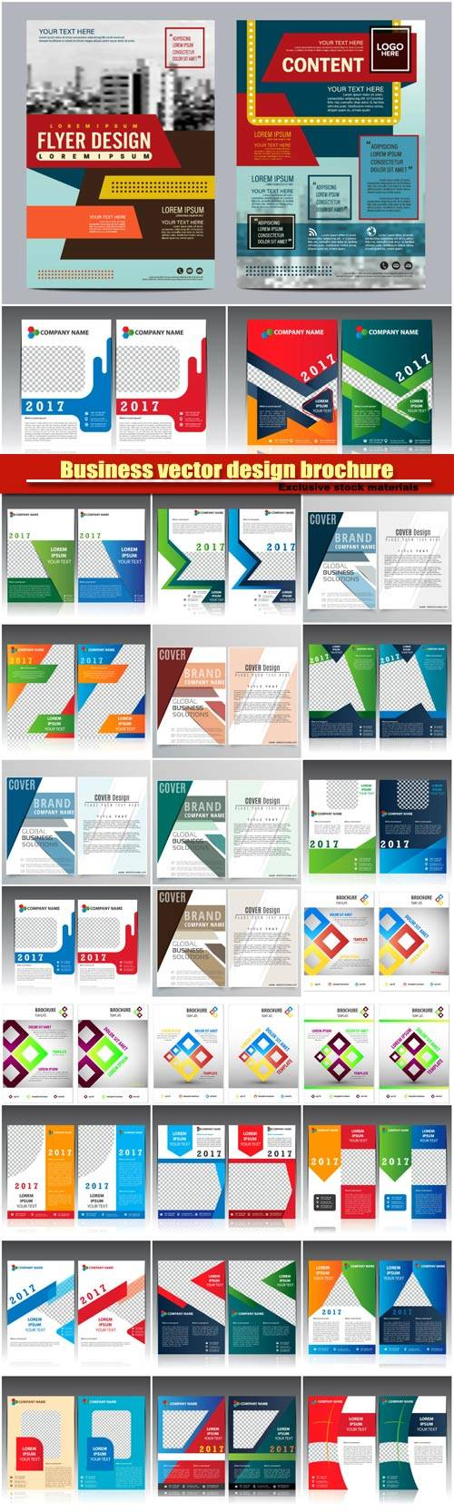 Business vector design brochure, creative flyer template