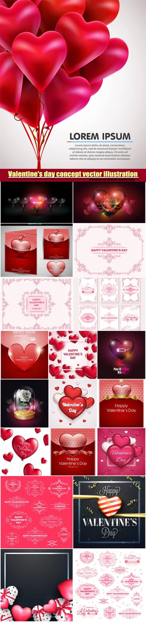 Valentine's day concept vector illustration