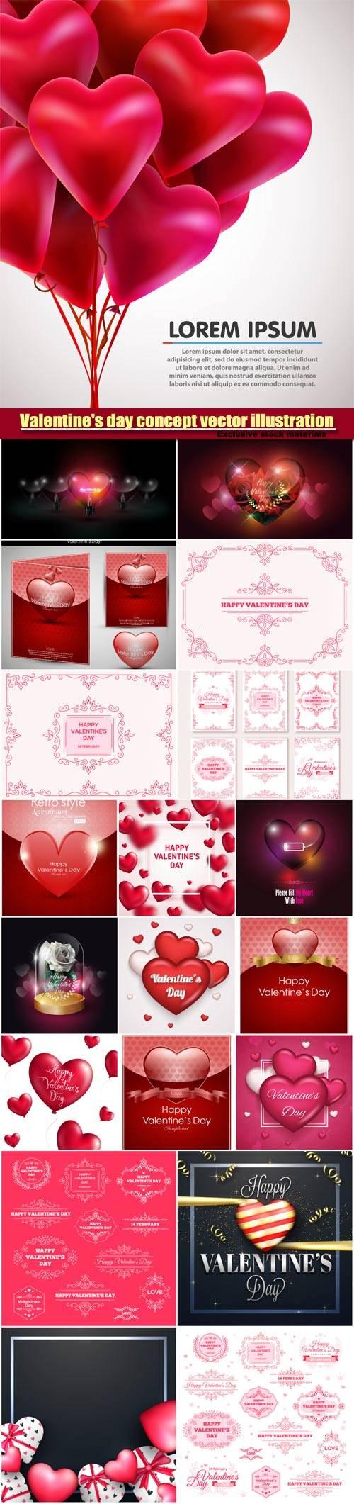 Valentine's day concept vector illustration