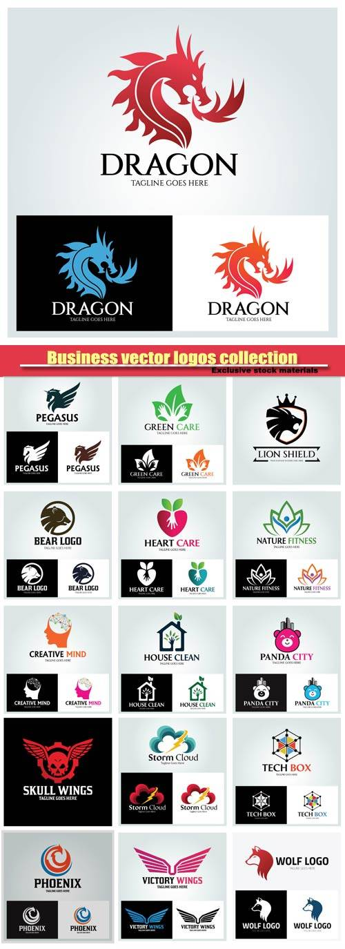 Business vector logos collection #15