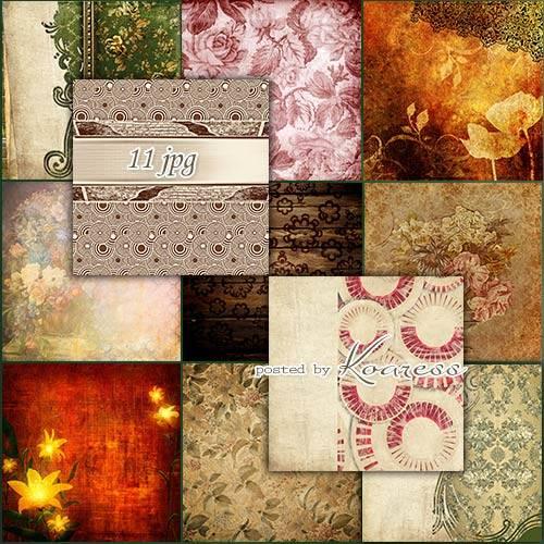 Растровые винтажные фоны для фотошопа
