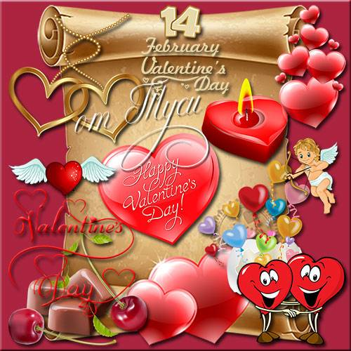 Clipart - Love heart covered