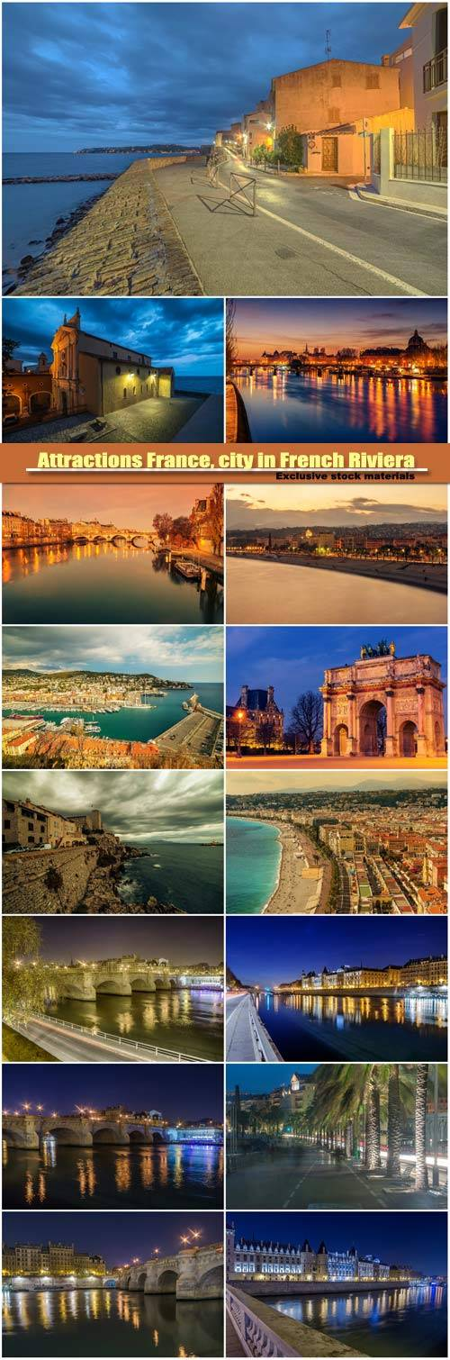 Attractions France, city in French Riviera between Cannes and Nice
