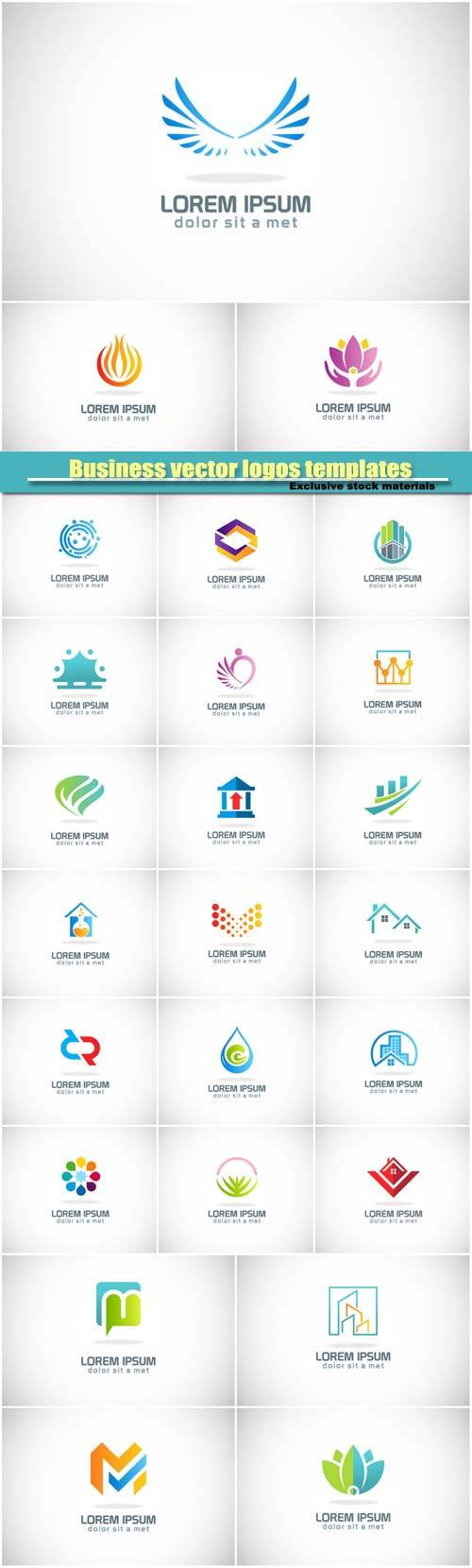Business vector logos templates, creative figure icon #4