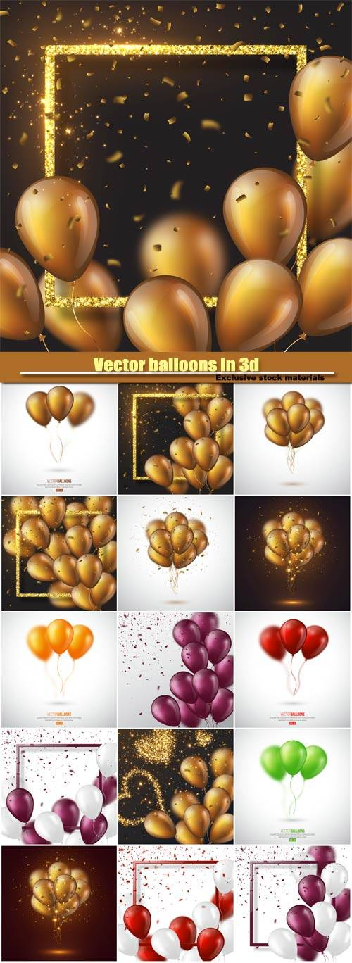 Vector balloons in 3d