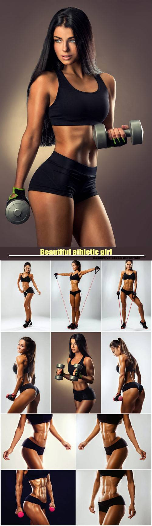 Beautiful athletic girl, exercise