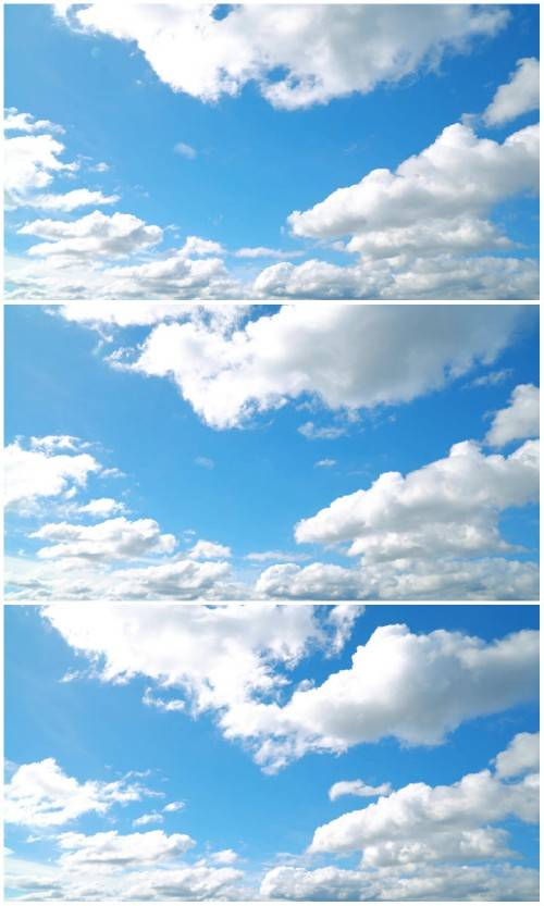 Running clouds on the sky HD