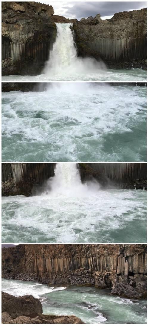 Video footage Beautiful blustery waterfall HD