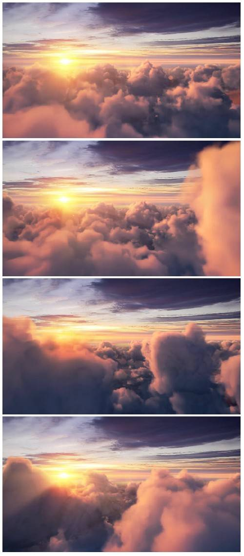 Video footage Clouds and with beautiful sunshine and the sunset HD